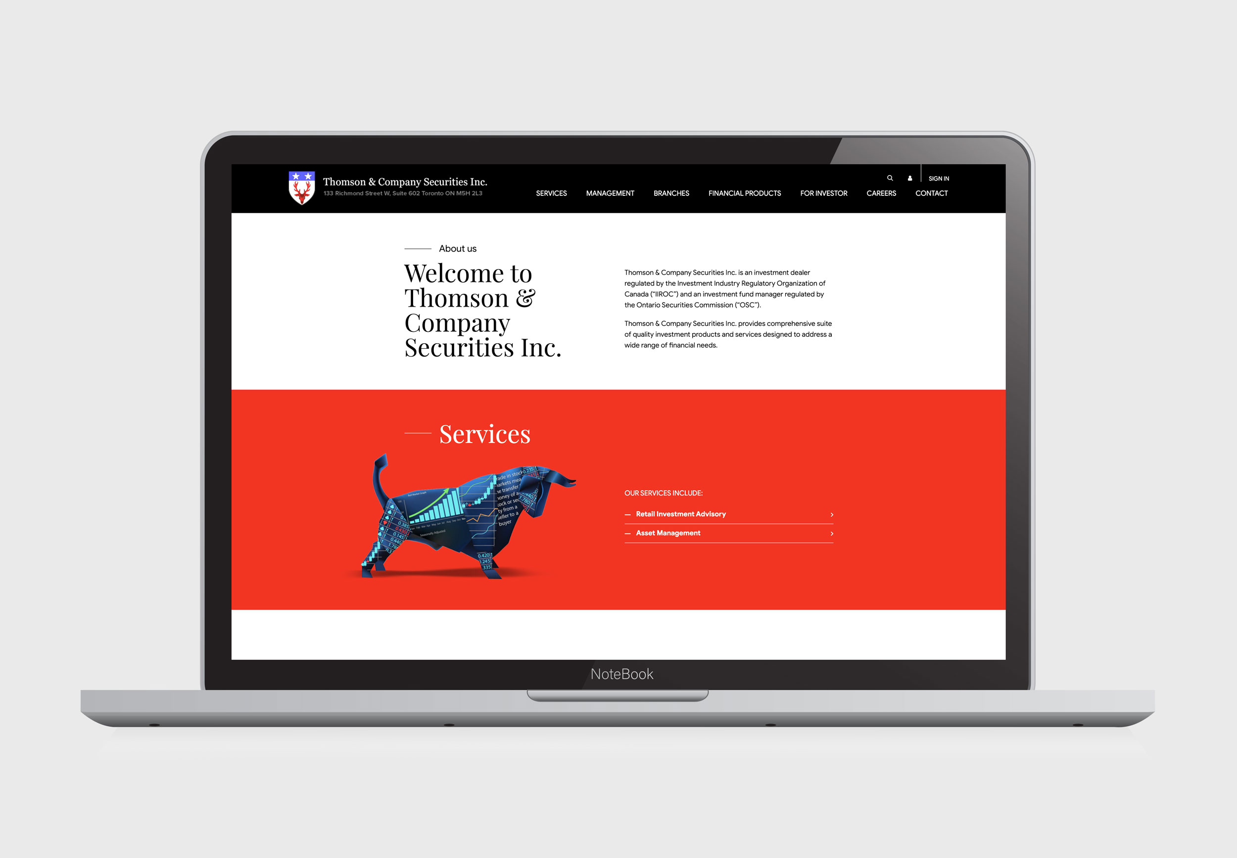 Website Development – Thomson & Company Holdings