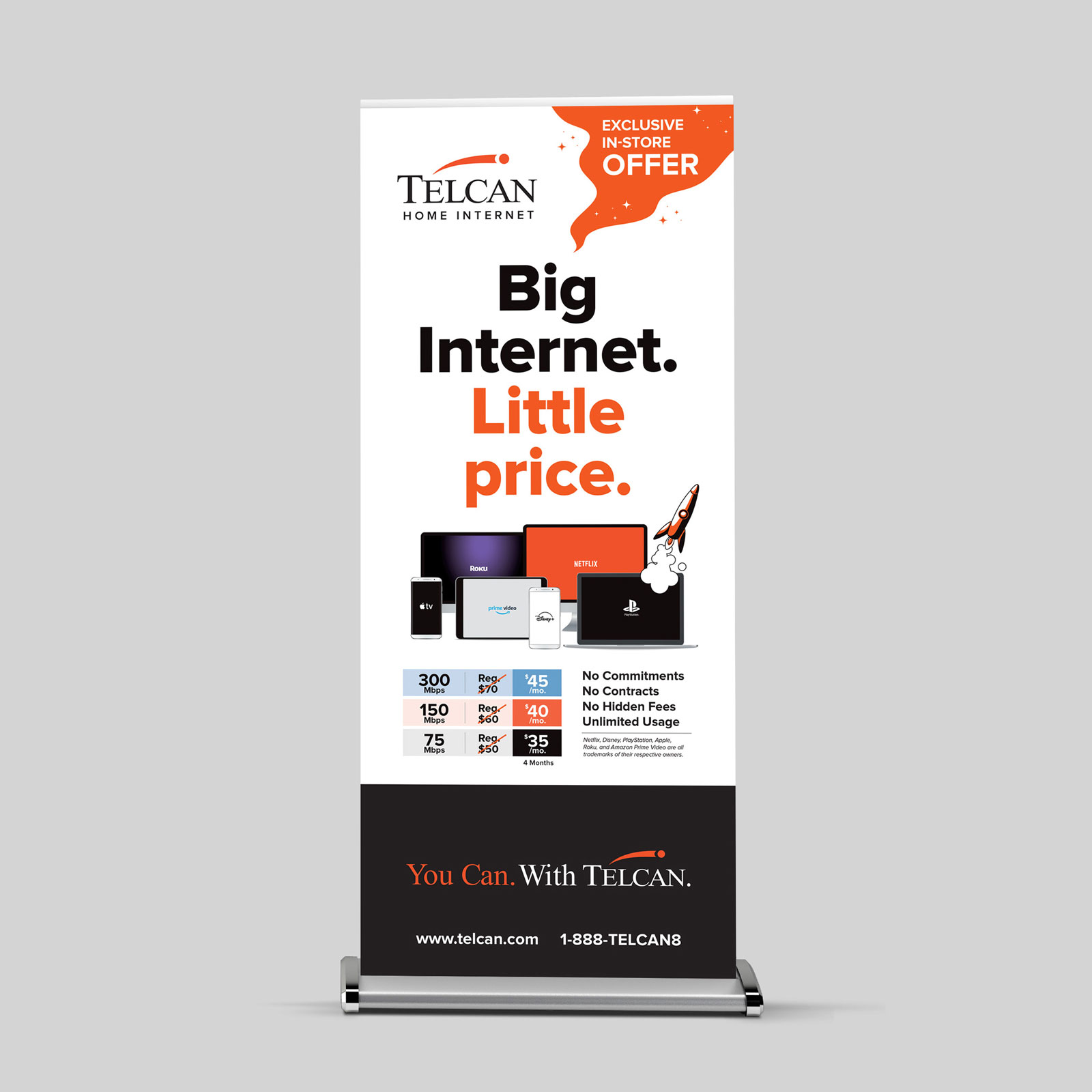 Internet Brand Launch Campaign – Telcan Communications