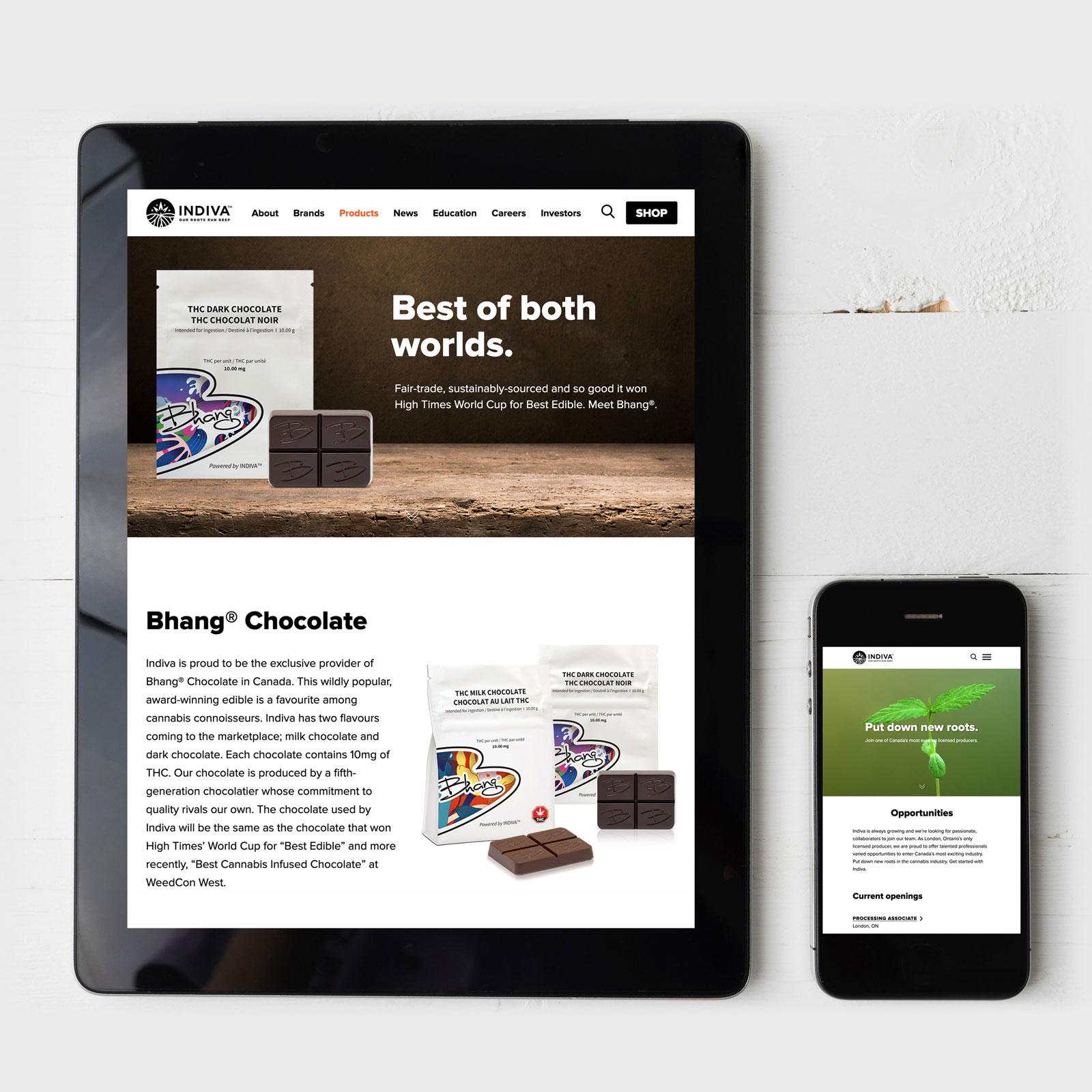 Cannabis Website Design – Indiva