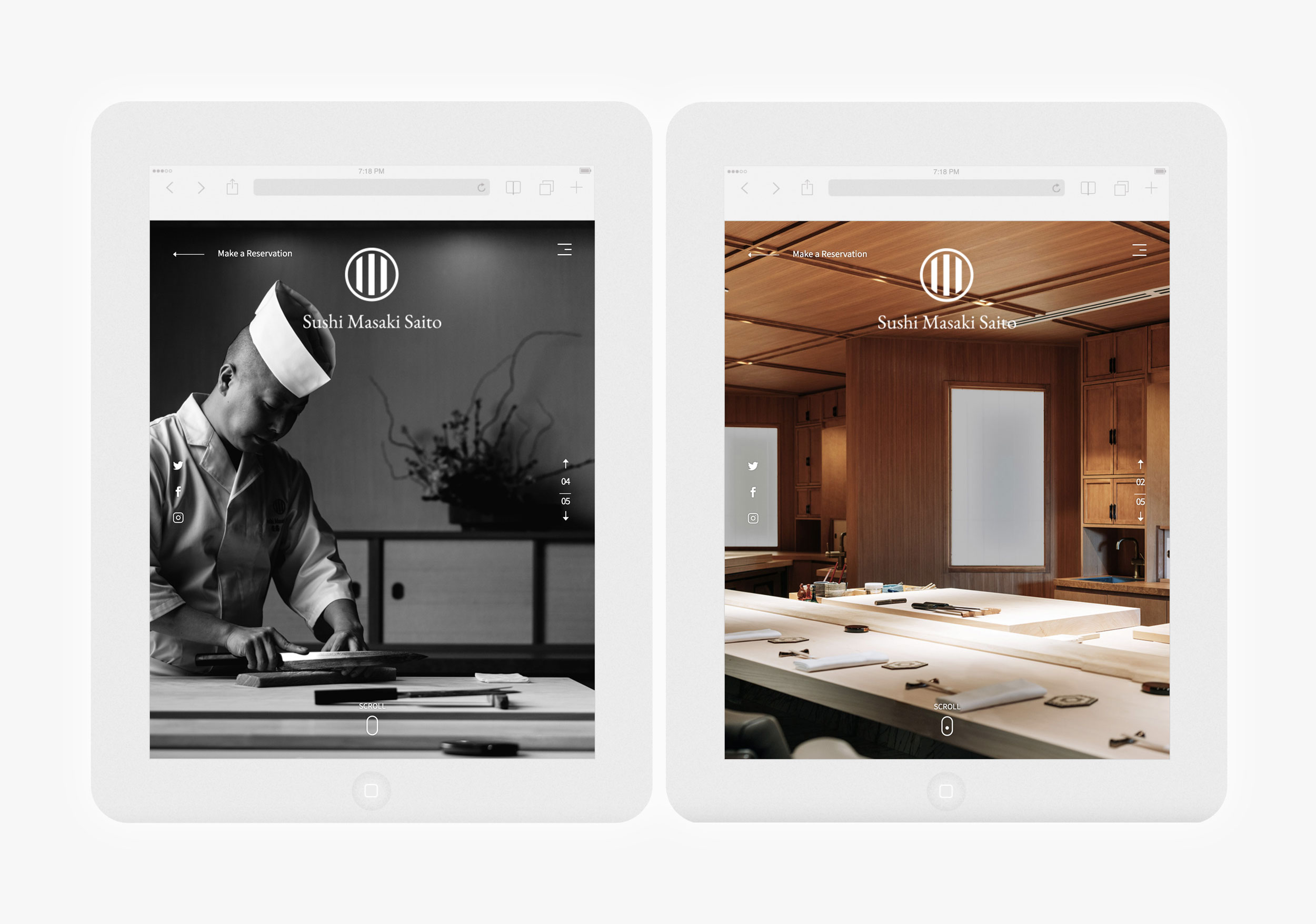 Sushi Website Design – Sushi Masaki Saito